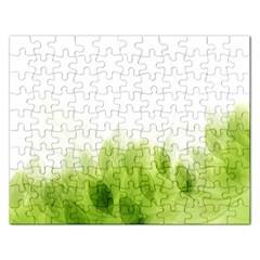 Green Leaves Pattern Rectangular Jigsaw Puzzl