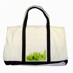 Green Leaves Pattern Two Tone Tote Bag