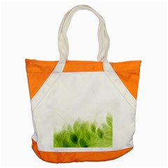 Green Leaves Pattern Accent Tote Bag