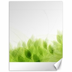 Green Leaves Pattern Canvas 12  X 16