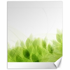 Green Leaves Pattern Canvas 16  X 20