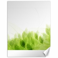 Green Leaves Pattern Canvas 18  X 24