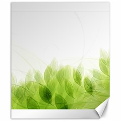 Green Leaves Pattern Canvas 20  X 24