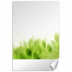 Green Leaves Pattern Canvas 24  X 36