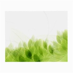 Green Leaves Pattern Small Glasses Cloth (2 Side)