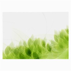 Green Leaves Pattern Large Glasses Cloth (2 Side)