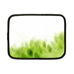 Green Leaves Pattern Netbook Case (small)