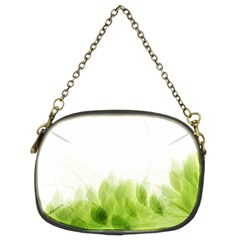 Green Leaves Pattern Chain Purses (two Sides)