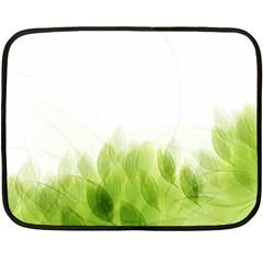 Green Leaves Pattern Fleece Blanket (mini)