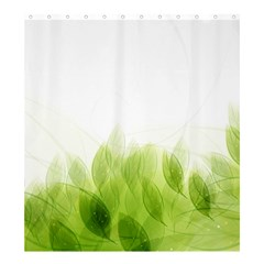 Green Leaves Pattern Shower Curtain 66  X 72  (large)
