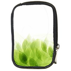 Green Leaves Pattern Compact Camera Cases