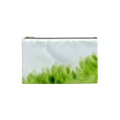 Green Leaves Pattern Cosmetic Bag (small)