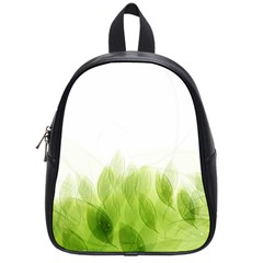 Green Leaves Pattern School Bags (small)