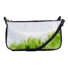 Green Leaves Pattern Shoulder Clutch Bags