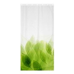 Green Leaves Pattern Shower Curtain 36  x 72  (Stall)