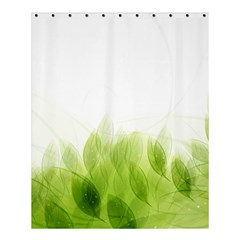 Green Leaves Pattern Shower Curtain 60  X 72  (medium)