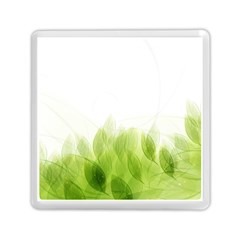 Green Leaves Pattern Memory Card Reader (square)