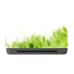 Green Leaves Pattern Memory Card Reader with CF
