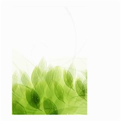 Green Leaves Pattern Small Garden Flag (two Sides)