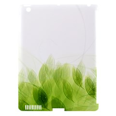 Green Leaves Pattern Apple Ipad 3/4 Hardshell Case (compatible With Smart Cover)