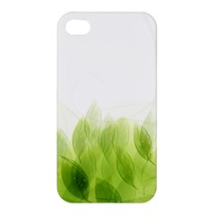 Green Leaves Pattern Apple Iphone 4/4s Premium Hardshell Case