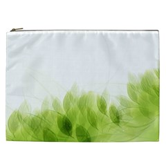 Green Leaves Pattern Cosmetic Bag (xxl)