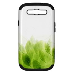 Green Leaves Pattern Samsung Galaxy S Iii Hardshell Case (pc+silicone)