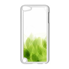 Green Leaves Pattern Apple Ipod Touch 5 Case (white)