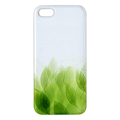 Green Leaves Pattern Apple Iphone 5 Premium Hardshell Case
