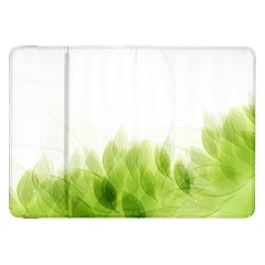 Green Leaves Pattern Samsung Galaxy Tab 8 9  P7300 Flip Case