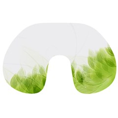 Green Leaves Pattern Travel Neck Pillows