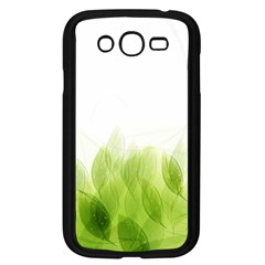 Green Leaves Pattern Samsung Galaxy Grand DUOS I9082 Case (Black)