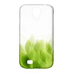 Green Leaves Pattern Samsung Galaxy S4 Classic Hardshell Case (pc+silicone)