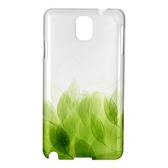 Green Leaves Pattern Samsung Galaxy Note 3 N9005 Hardshell Case