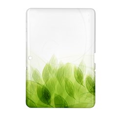 Green Leaves Pattern Samsung Galaxy Tab 2 (10 1 ) P5100 Hardshell Case