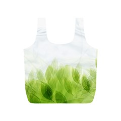 Green Leaves Pattern Full Print Recycle Bags (s)