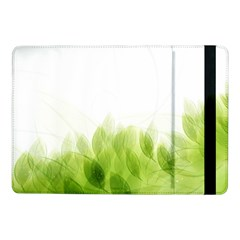Green Leaves Pattern Samsung Galaxy Tab Pro 10 1  Flip Case