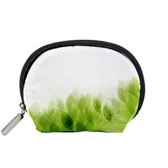 Green Leaves Pattern Accessory Pouches (small)