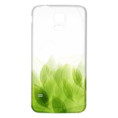 Green Leaves Pattern Samsung Galaxy S5 Back Case (white)