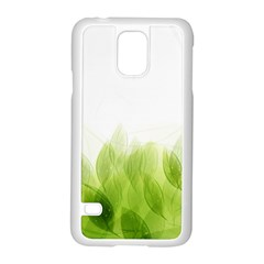 Green Leaves Pattern Samsung Galaxy S5 Case (white)