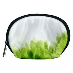 Green Leaves Pattern Accessory Pouches (medium)