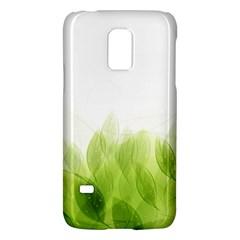 Green Leaves Pattern Galaxy S5 Mini