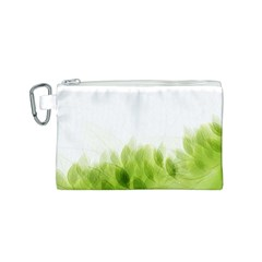 Green Leaves Pattern Canvas Cosmetic Bag (s)