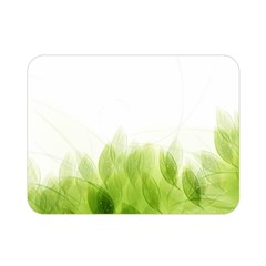 Green Leaves Pattern Double Sided Flano Blanket (mini)