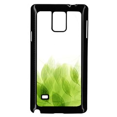 Green Leaves Pattern Samsung Galaxy Note 4 Case (black)
