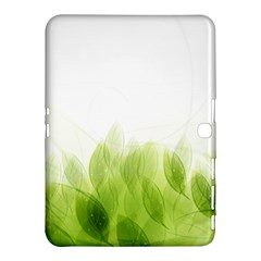 Green Leaves Pattern Samsung Galaxy Tab 4 (10 1 ) Hardshell Case