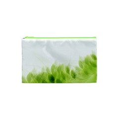 Green Leaves Pattern Cosmetic Bag (xs)