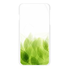 Green Leaves Pattern Apple Seamless iPhone 6 Plus/6S Plus Case (Transparent)