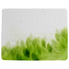 Green Leaves Pattern Jigsaw Puzzle Photo Stand (rectangular)