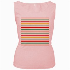 Papel De Envolver Hooray Circus Stripe Red Pink Dot Women s Pink Tank Top